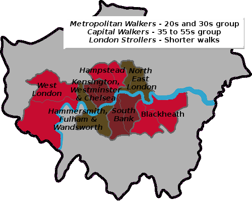 Inner London Area Walking Groups